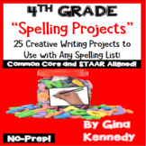 4th Grade Spelling Projects! 25 Standards Aligned Projects, Any List!