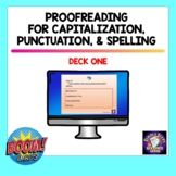 Proofreading for SPELLING PUNCTUATION and CAPITALIZATION |
