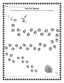 Spelling (Puppy Bowl and Paw Print)