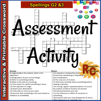 Spelling Puzzles & Games Bundle Grade 2&3 Interactive (4 products)