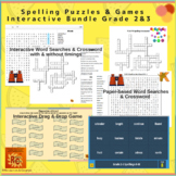 ELA Spelling Puzzles & Interactive Games Bundle Grade 2&3 (4)
