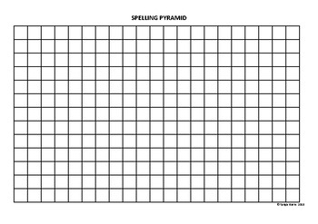 Spelling Pyramid Blank Practice Sheet