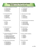 Spelling Quiz #1: Digestive System Med Term
