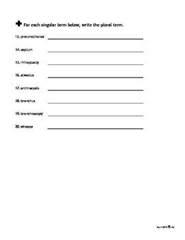 Spelling Quiz #2: Respiratory Med Term