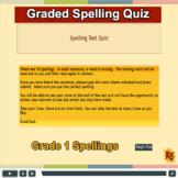 Grade 1 Spellings Quiz