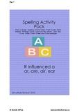 Spelling R Influenced a -ar, -are, -air, -ear