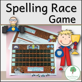 Spelling Race Game to teach any list of 10 words