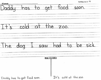 Spelling-Reading Worksheets Grades 1-3