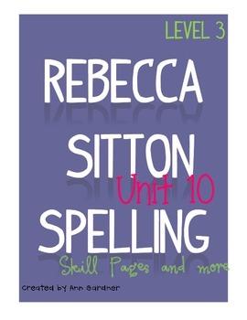 Spelling - Rebecca Sitton 3rd Grade - Unit 10