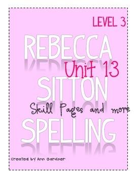 Spelling - Rebecca Sitton 3rd Grade - Unit 13