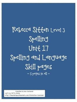 Spelling - Rebecca Sitton 3rd Grade - Unit 17 - Plus!