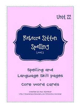 Spelling - Rebecca Sitton 3rd Grade - Unit 22