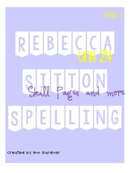 Spelling - Rebecca Sitton 3rd Grade - Unit 24