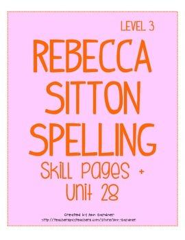 Spelling - Rebecca Sitton 3rd Grade - Unit 28