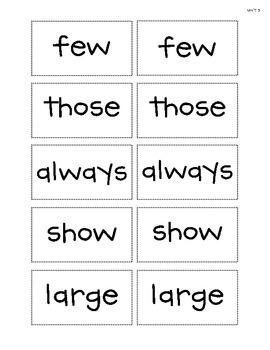 Spelling - Rebecca Sitton Grade 3 - Core Word Complete List