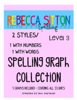 Spelling - Rebecca Sitton Grade 3 - Score Sheet Graphs - 2 Styles - UPDATED!!