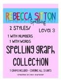 Spelling - Rebecca Sitton Grade 3 - Score Sheet Graphs - 2 Styles - UPDATED!!
