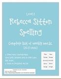 Spelling - Rebecca Sitton Level 2 - Core Word Master List