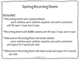 Spelling Recording Sheets