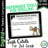 Reference Tools for Spelling Digital Task Cards - Paperles
