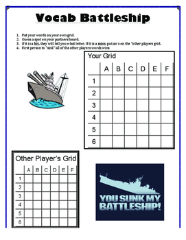 Spelling Resource - Battleship Game