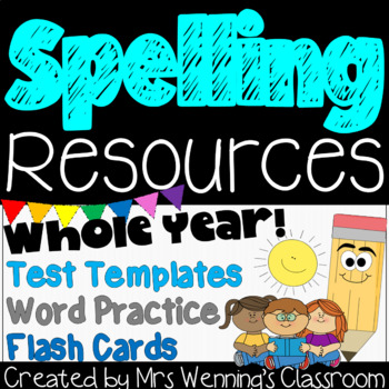 Spelling Resource Pack (for weekly use with any spelling words)!