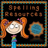 Spelling Resources-EDITABLE!