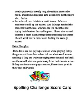 Spelling Review Game