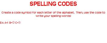 Spelling Review Game Cards