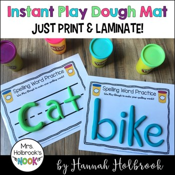 Spelling Review Play Dough Mats