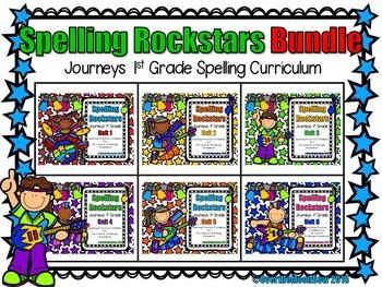 Spelling Rockstars Homework Foldables ~ Journeys 1st Grade