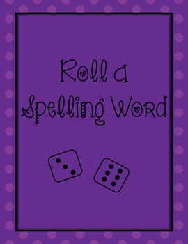 Spelling Roll A Word