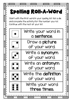 Spelling Roll-A-Word