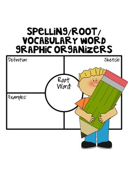 Spelling/Root/Vocabulary Word Graphic Organizers (Based on Frayer Model)