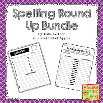 Spelling Round Up Bundle!
