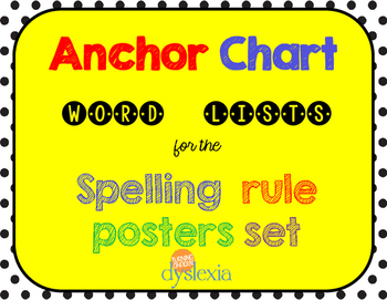 Spelling Rule Anchor Charts