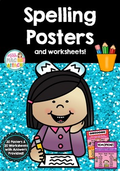 Spelling Rule Posters with Worksheets ~ Miss Mac Attack ~