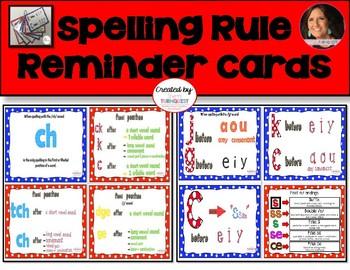 Spelling Rule Reminder Cards