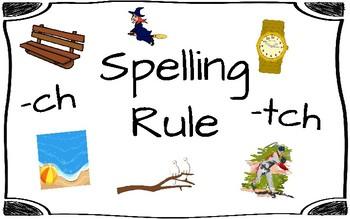 Spelling Rule -ch/-tch