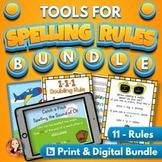 Spelling Rules Activities Practice Bundle with Digital Dis