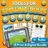 Spelling Rules Activities Practice Bundle with Digital Dis