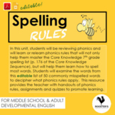 Spelling Rules {Digital & PDF} Distance Learning