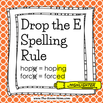 Spelling Rules-- Drop the E