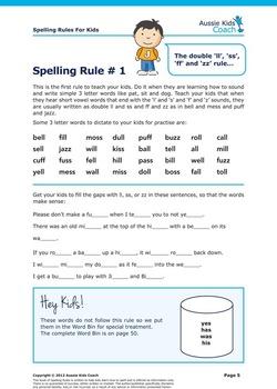 Spelling Rules For Kids