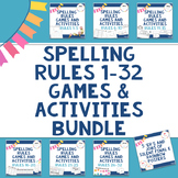 Spelling Rules Games and Activities Bundle (Rules 1 to 32) for Literacy Centers