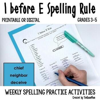 Spelling Rules-- I Before E