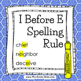 Spelling Rules-- I Before E