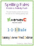 Spelling Rules (K vs. C; 1-1-1 Rule; Sammy Loves Fried Zebras)-Orton Gillingham