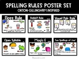 Spelling Rules Posters: Orton Gillingham Inspired