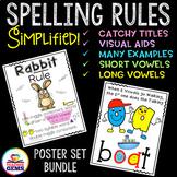 Spelling Rules Poster Set Bundle